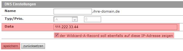 DNS-Werkzeuge - A-Record für Domain ändern, Bild 2