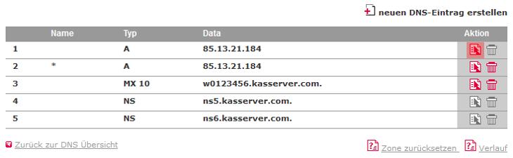DNS-Werkzeuge - A-Record für Domain ändern, Bild 1