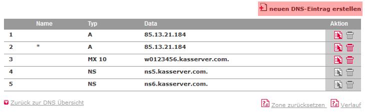 DNS-Werkzeuge - Nameserver ändern, Bild 1