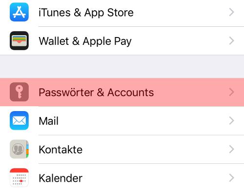 iPhone und iPad - E-Mail-Konto einrichten